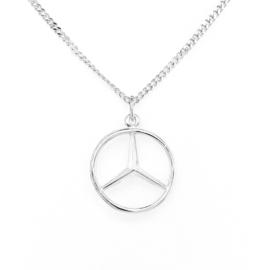 Zilveren bedel Mercedesster