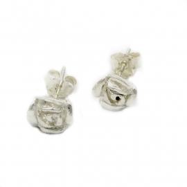 Zilveren oorsteker roosje 9 mm