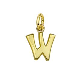 Gouden letter W hanger