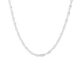 Zilveren collier gedraaid singapore 41-45cm