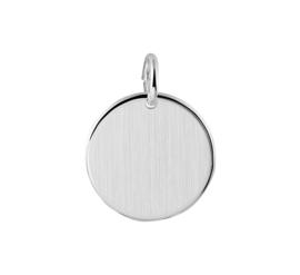 Zilver graveerplaatje rond 16 mm