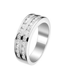 Zilveren ringen zirkonia maat 15-21
