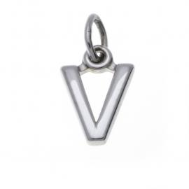 Zilver hanger letter V