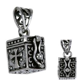 Zilveren ashanger gedenksieraad doosje