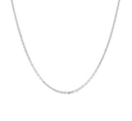 Zilveren ketting anker gediamanteerd 42-80 cm x 1,3 mm