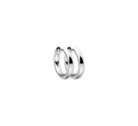 Zilveren klapoorringen/ klapcreolen