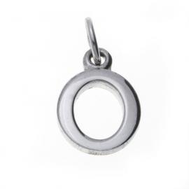 zilver hanger letter O