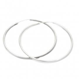 Zilveren creolen rond 18 - 20 mm x 1,1 mm