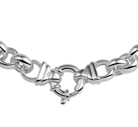Zilveren ketting jasseron 45 cm x 10-12,5 mm