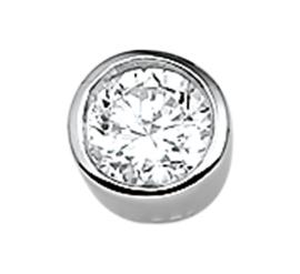 Zilveren bedel zirkonia rond 7/8,5 mm