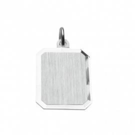 Zilveren graveerplaatje rechthoek 14 x 18 mm