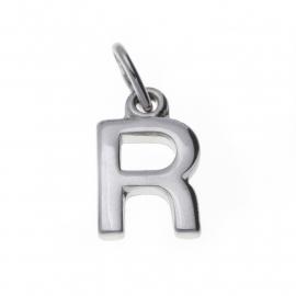 Zilver hanger letter R
