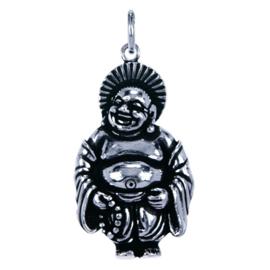 Zilveren bedel Hotei Japanse geluksgod