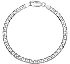 Zilveren armband gourmet 4 mm x 19-20 cm