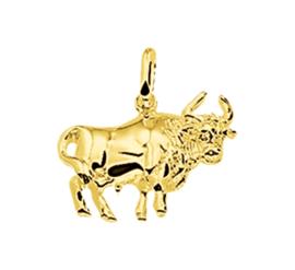 Gouden sterrenbeeld stier hanger