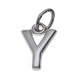 Zilver hanger letter Y