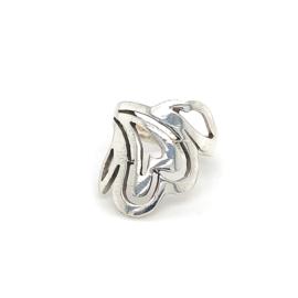 Zilveren ring vrije vorm 16,5 - 19,25 x 22 mm