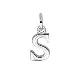 Zilveren bedel letter S