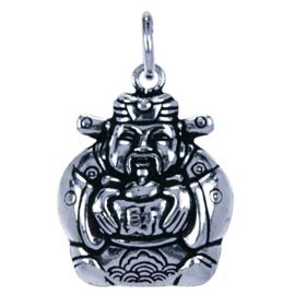 Zilveren bedel Cai Shen