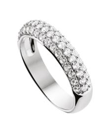 Zilveren ring zirkonia kleine maat 15 - 19