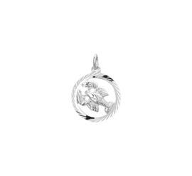 Zilveren bedel met kreeft sterrenbeeld