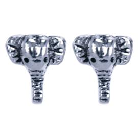 Zilveren oorknoppen olifantjes 7 x 8 mm