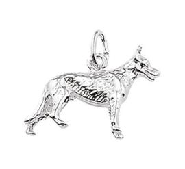 Zilveren bedel herdershond