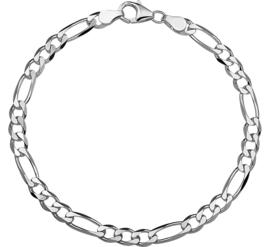 Zilveren armband figaro 4,5 mm x 19-20 cm