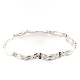 Zilveren armband  dames 19 cm x 5 mm