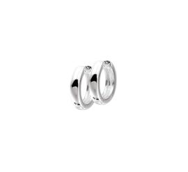 Zilveren klapoorringen bolle buis 3 mm x 10,5 - 15 mm