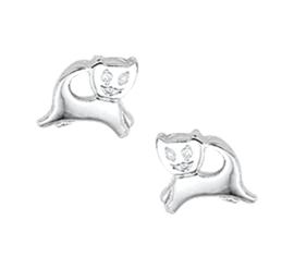 Zilveren oorbellen poezen
