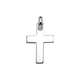 Zilveren bedel kruis 30 mm
