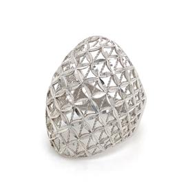 Zilveren ring opengewerkt fantasie mt 16 - 16,75 x 27 mm