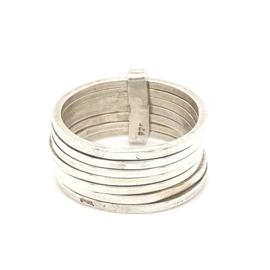 Zilveren ring breed  mt 16,25 - 19,5 x 10 mm