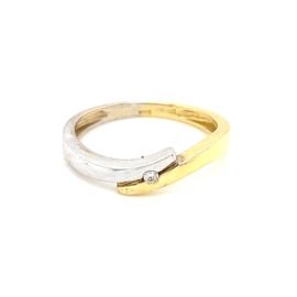 Gouden ring zirkonia mt 17,5