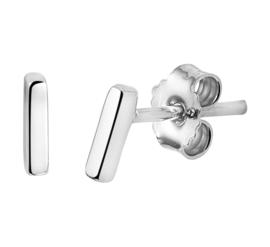 Zilveren oorknoppen staafje 5,5 mm