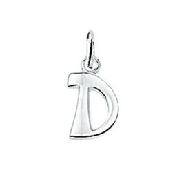 Zilveren bedel letter D