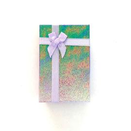 Cadeauverpakking: paars schitterend doosje 50 x 800 mm