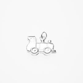 Zilveren bedel locomotief trein