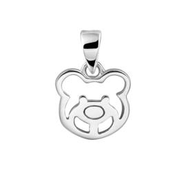 Zilveren bedel beer/ berenkop