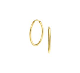 Gouden oorringen creolen 20 mm x 1,5 mm