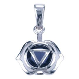 Zilveren bedel chakra Ioliet hoofd