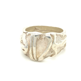 Zilveren ring Italiaans design mt 22,5