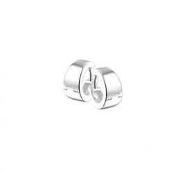 Zilveren klapoorringen taps toelopend 13,5 x 4 mm