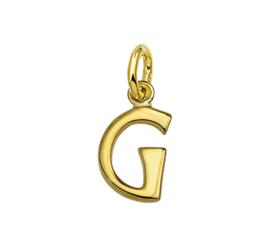 Gouden letter G hanger