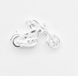 Zilveren bedel chopper motor