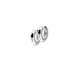 Zilveren klapoorringen bolle buis 2,5 mm