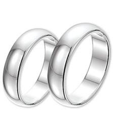 Zilveren ring glad 5mm mt 16 - 21 - relatiering