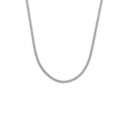 Zilveren collier/ ketting 42-50 cm gourmet gerhodineerd 1,4 mm