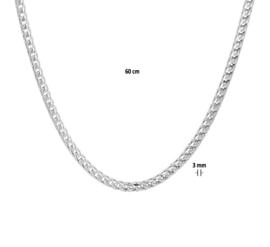 Zilveren gourmet rond 50-60 cm 3 mm